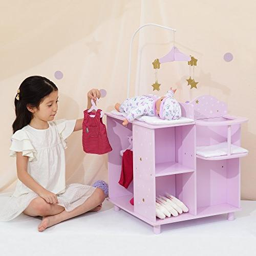 """Olivia's TD-0203AP - Twinkle 16"""" Baby Station with Purple"""