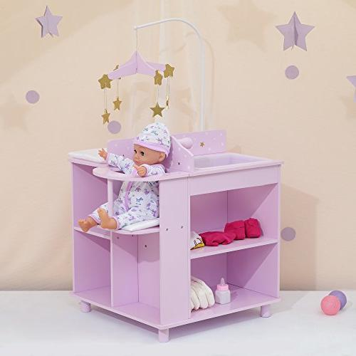 "Olivia's TD-0203AP - Twinkle Princess 16"" Baby Station with Purple"