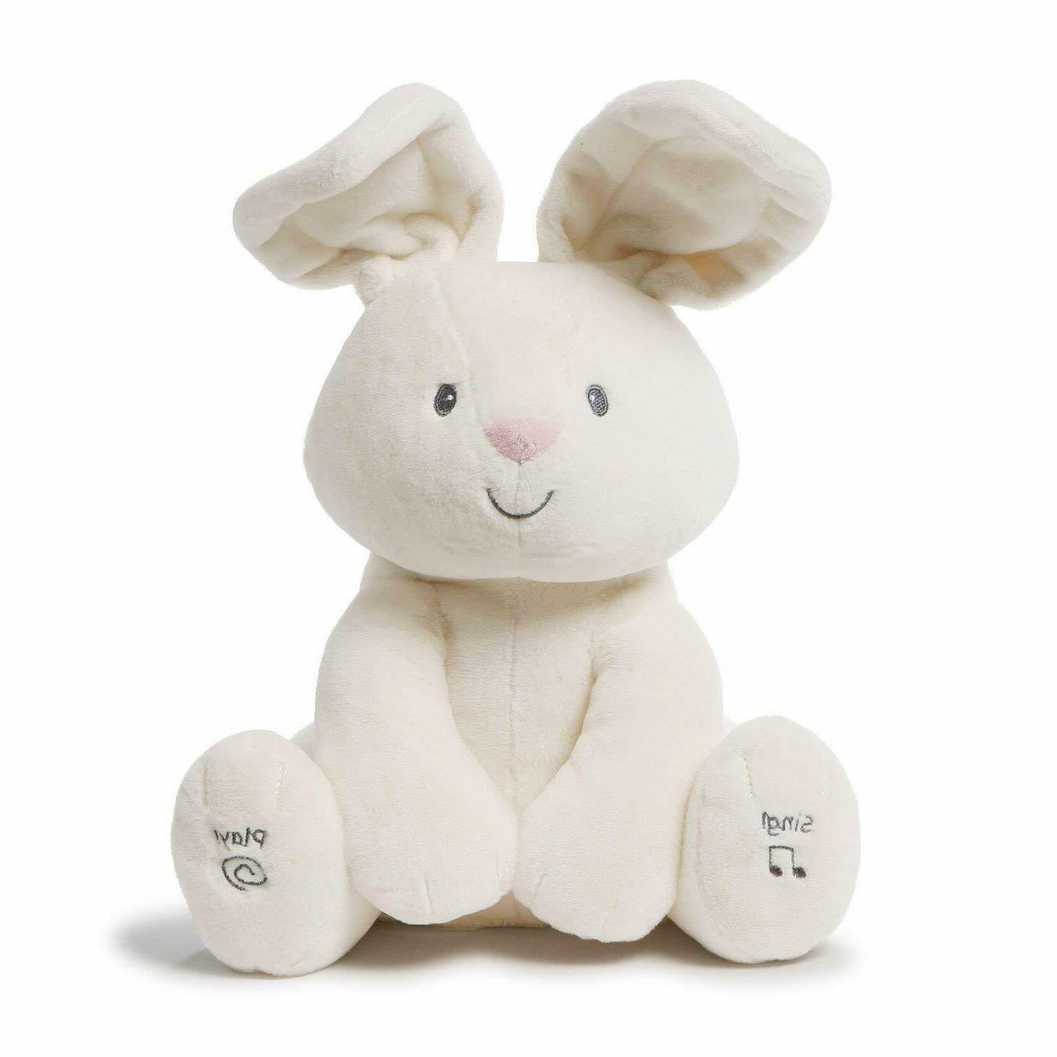 Gund Baby Flora The Bunny Animated Plush Stuffed Animal Toy,