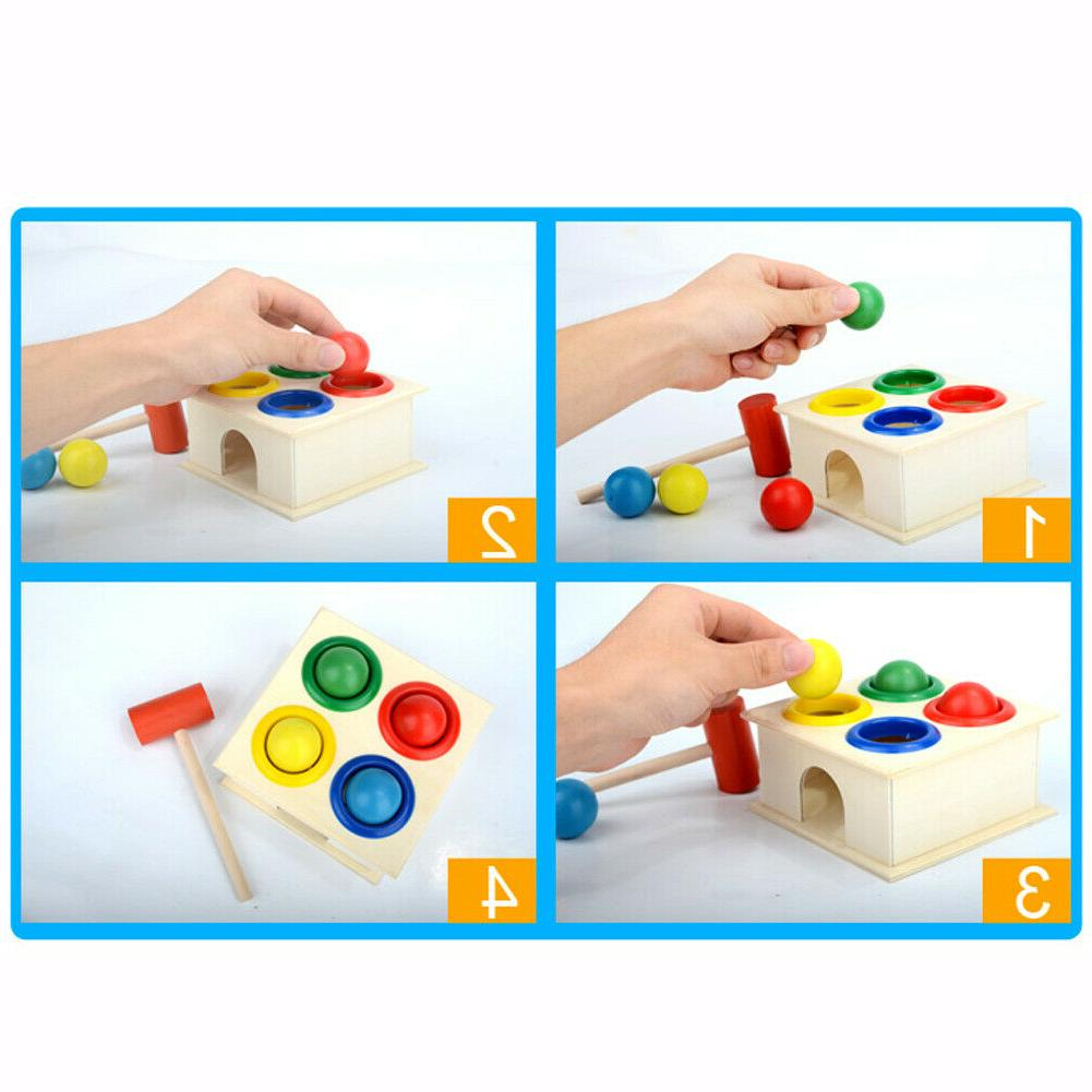 Baby Wooden Ball Hammer Learning Educational Toys
