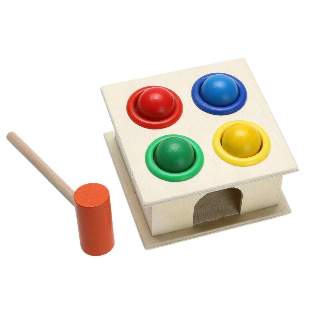 Baby Hammering Wooden Hammer Learning Toys