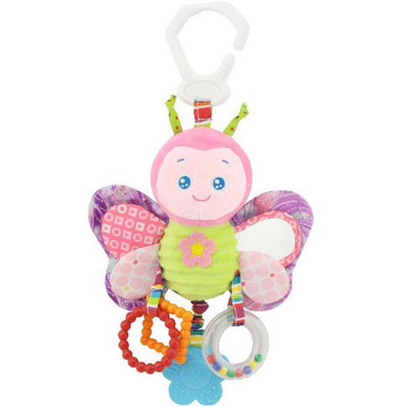 Baby Infant Rattles Animal Play Toy Doll Bed US