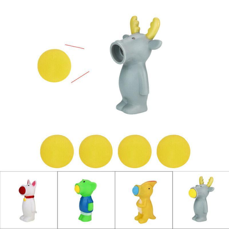 baby kid spit balls animal popper toys