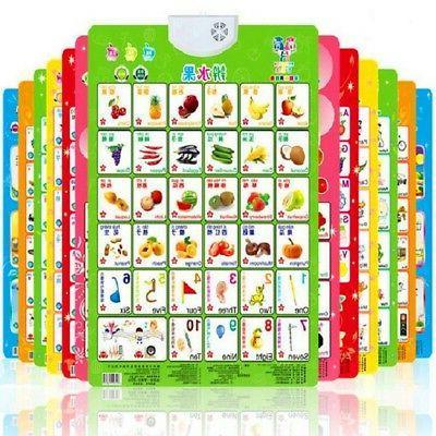 baby kids alphabet fruit sound wall chart