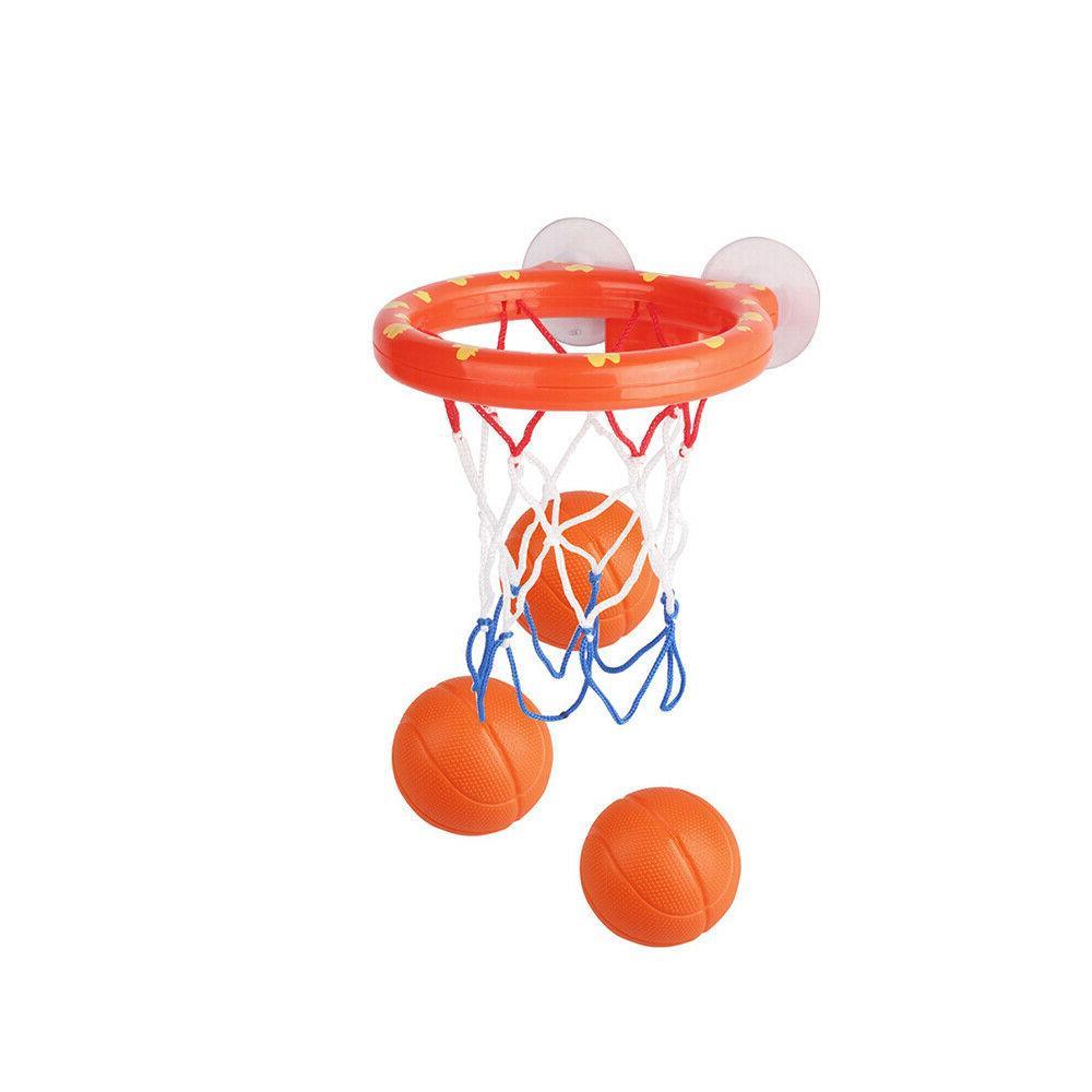 Baby Kids Bathtub Toy Mini Basketball Hoop & 3 Balls Plastic Bath Toys