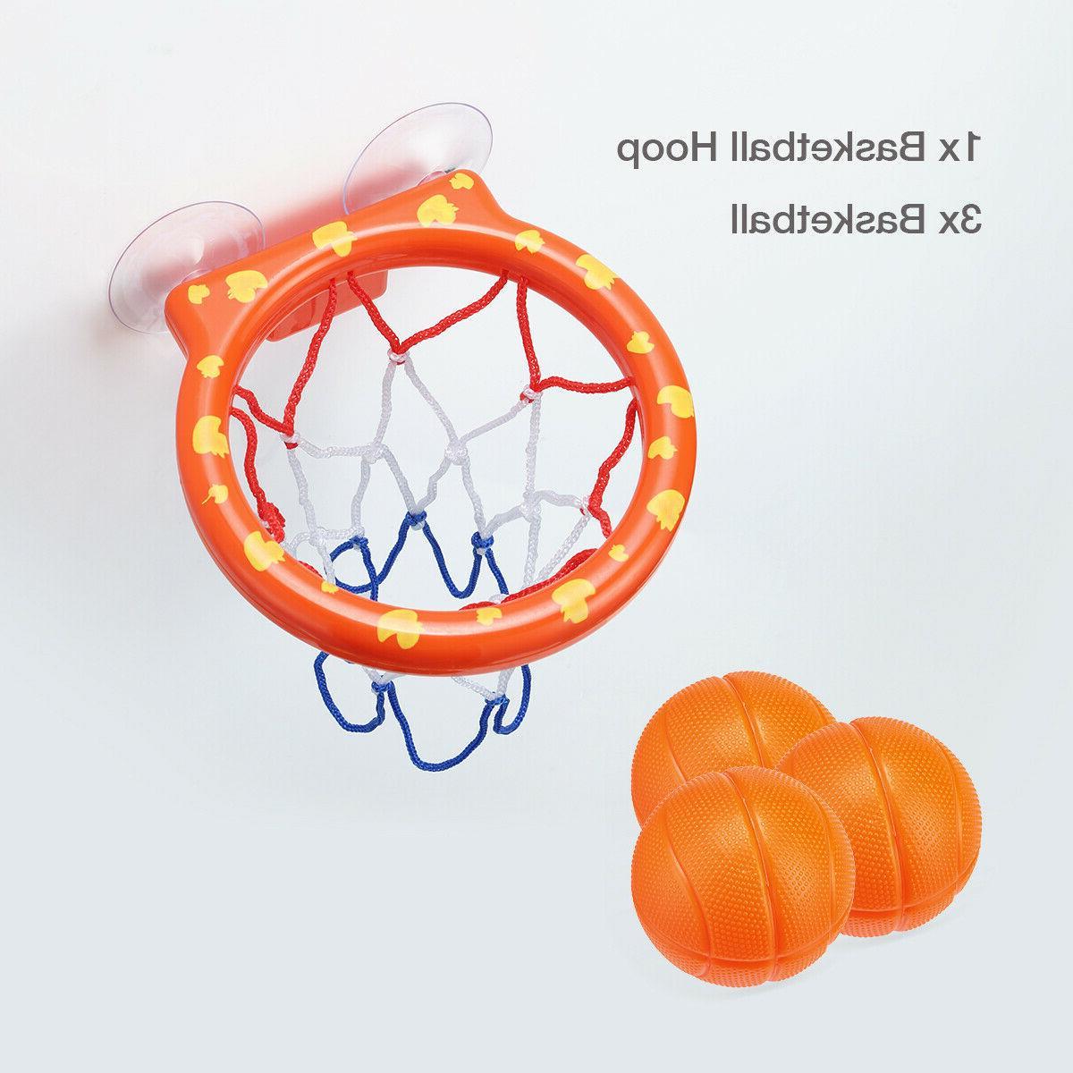 Baby Kids Child Bathtub Toy & 3 Balls Set Plastic
