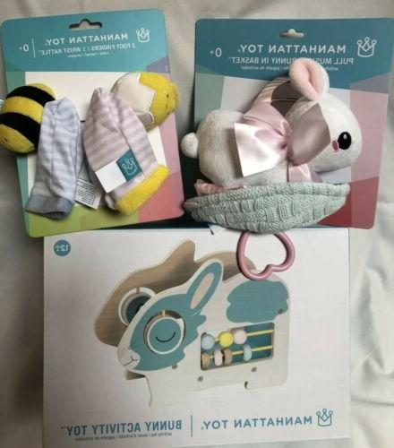 baby lot bunny activity musical pull bunny