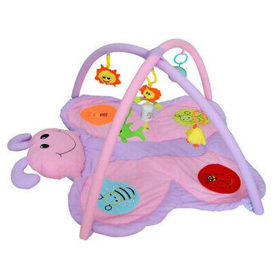Baby Play Mat Soft Activity Gym with and Butterfly