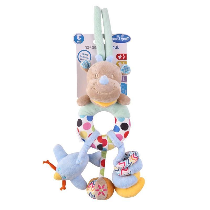 Baby Plush Stroller Hanging Ring Bell Toys Doll