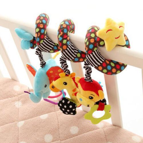 Cute Soft Toy Pram Car Seat Cot Crib Activity Rattle Plush Toys Gift