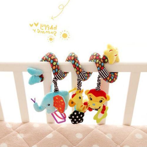 Cute Baby Spiral Toy Pram Cot Crib Activity Plush Toys