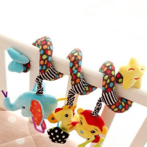 Toy Pram Cot Activity Rattle Plush