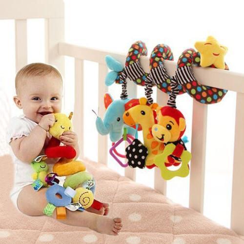 cute baby spiral soft toy pram car