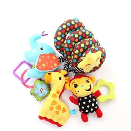 Cute Spiral Toy Pram Cot Crib Activity Plush Toys Gift