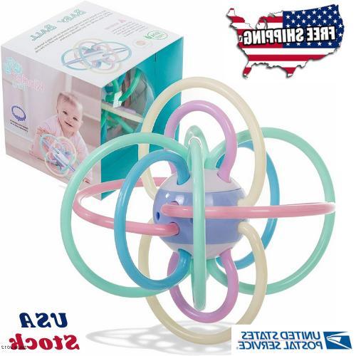 baby rattle sensory teether ball toy