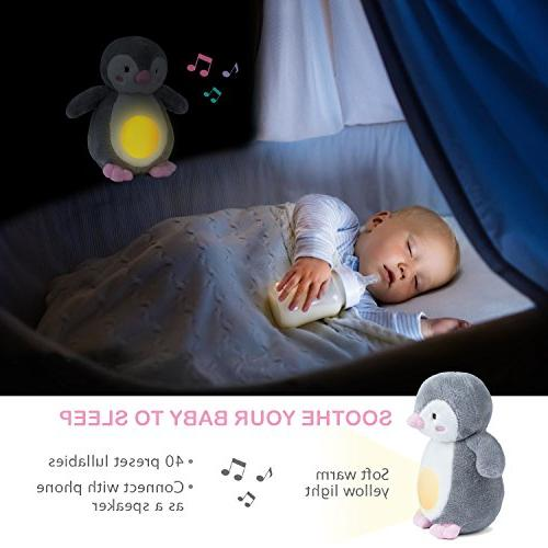 Baby Night Sleep Aid, Shusher Machine with Soother Portable Soft Stuffed Animal