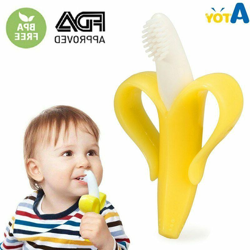 baby teether silicone bite and brush chewy