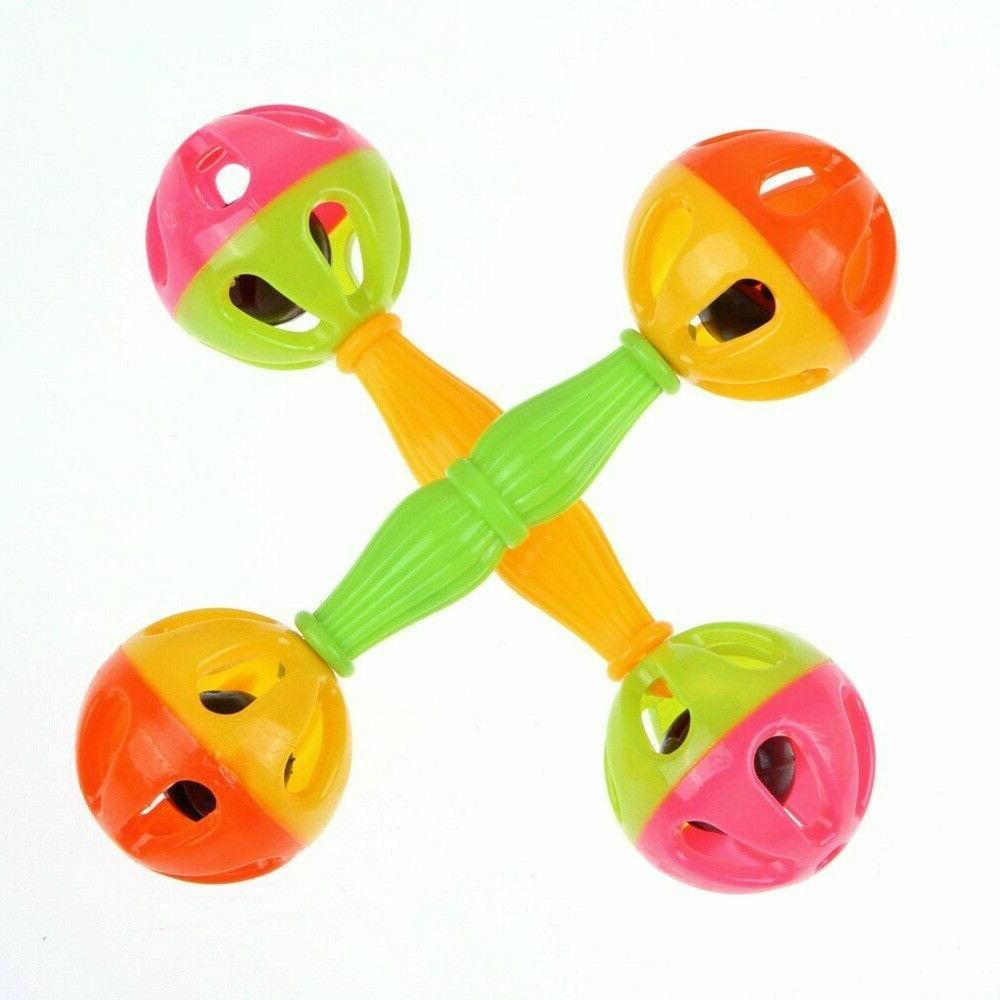 baby toy rattles bell shaking dumbells early