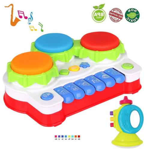 LUKAT Baby Toys for 1 Year Old Toddler, Piano and Drum Music
