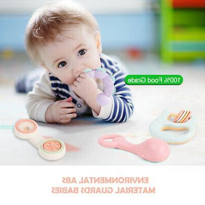 Baby Infant Grasping Grab Toys Spin Toy US