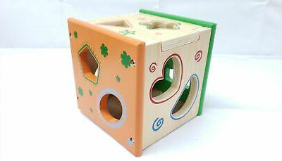 Baby Toys Wooden Cube Geometric