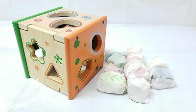 baby toys wooden sorting cube with 9