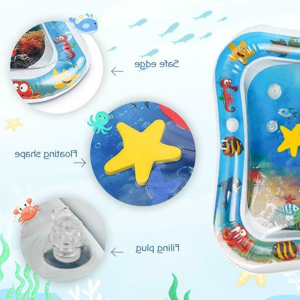 Baby Water Tummy Time Inflatable Mat floor Activity Kids