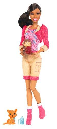 Barbie I Can Be Zoo Keeper African-American Doll