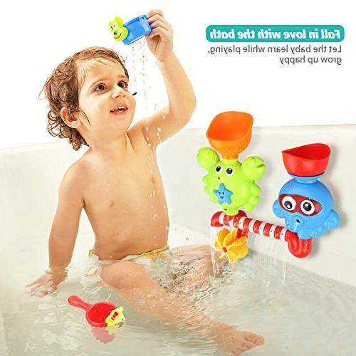 Bath Toys for Toddlers Babies 3 Girls Bathtub Wall Toy and Spin with Strong Bath Bath Gift Ideas