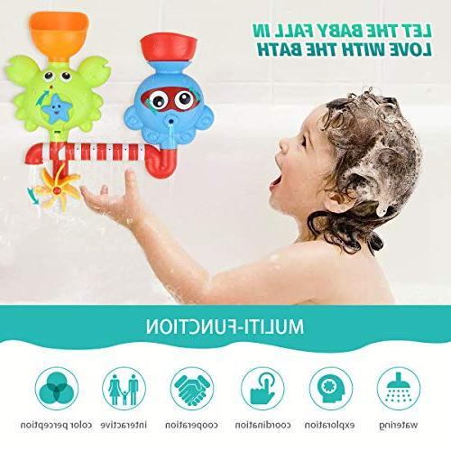 Bath Toddlers Babies Kids 1 3 Boys Girls Bathtub Bath Wall and with Bath Toys Non Toxic Bath Toy Gift Ideas
