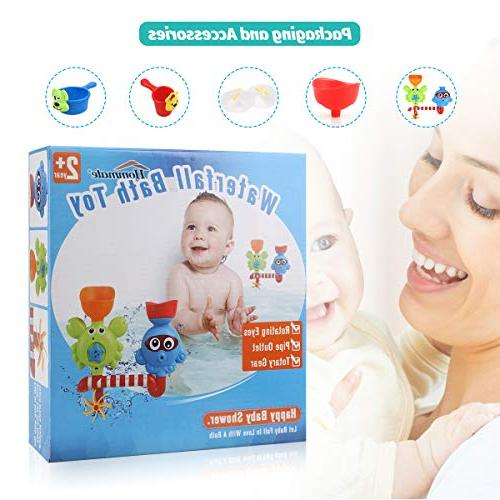Bath for Babies 2 3 Year Old Girls Toys Bath Wall and Waterfall with Cups Bath Toys Toxic Bath Toy