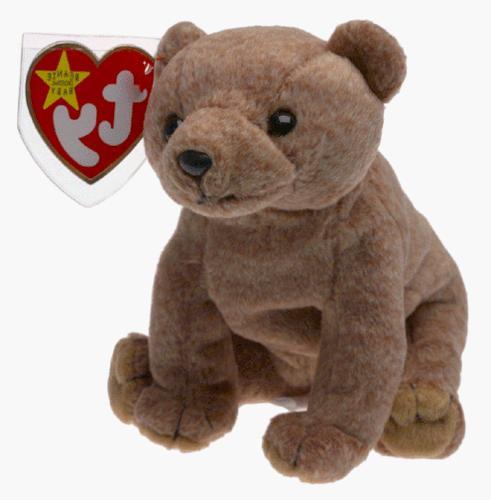 beanie babies brown bear pecan