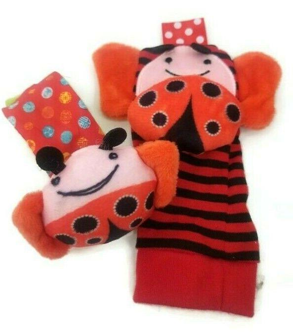 Skk Baby Ladybug Toddler Wrist Toys 4pcs
