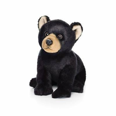 black bear plush toy woodland