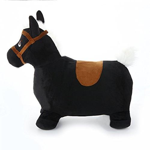 Black Horse, Play Plush Covered 3, 4, Old Toddlers Boys Girls - iPlay, iLearn