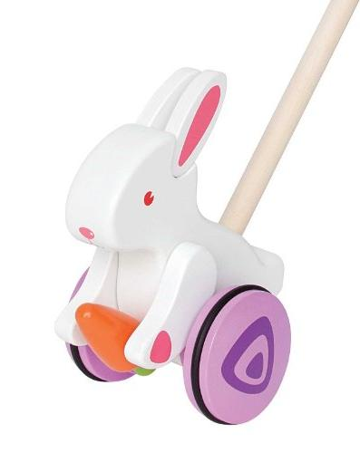 bunny wooden push pull toddler
