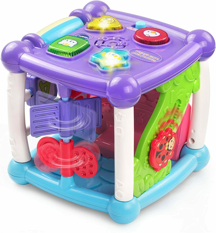 VTech Busy Activity Cube, Purple baby girls