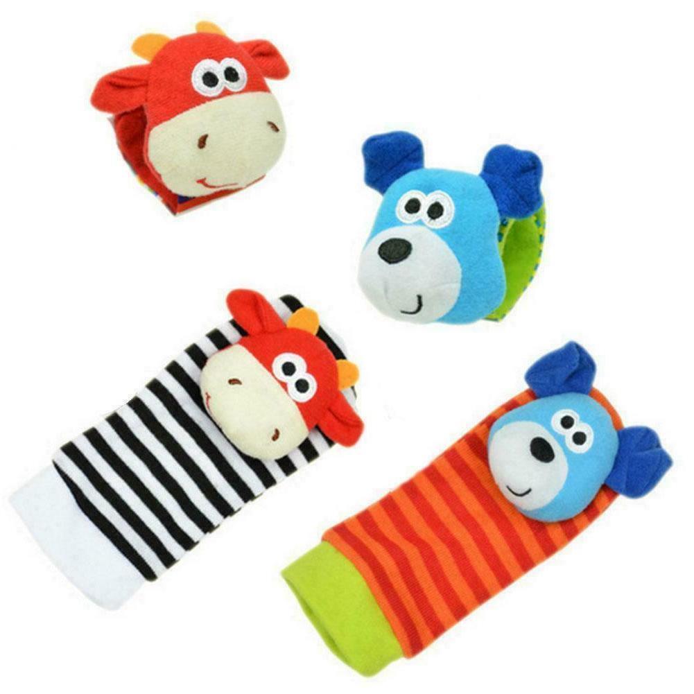 Cartoon Baby Toys Months Animal Rattles Infant Children