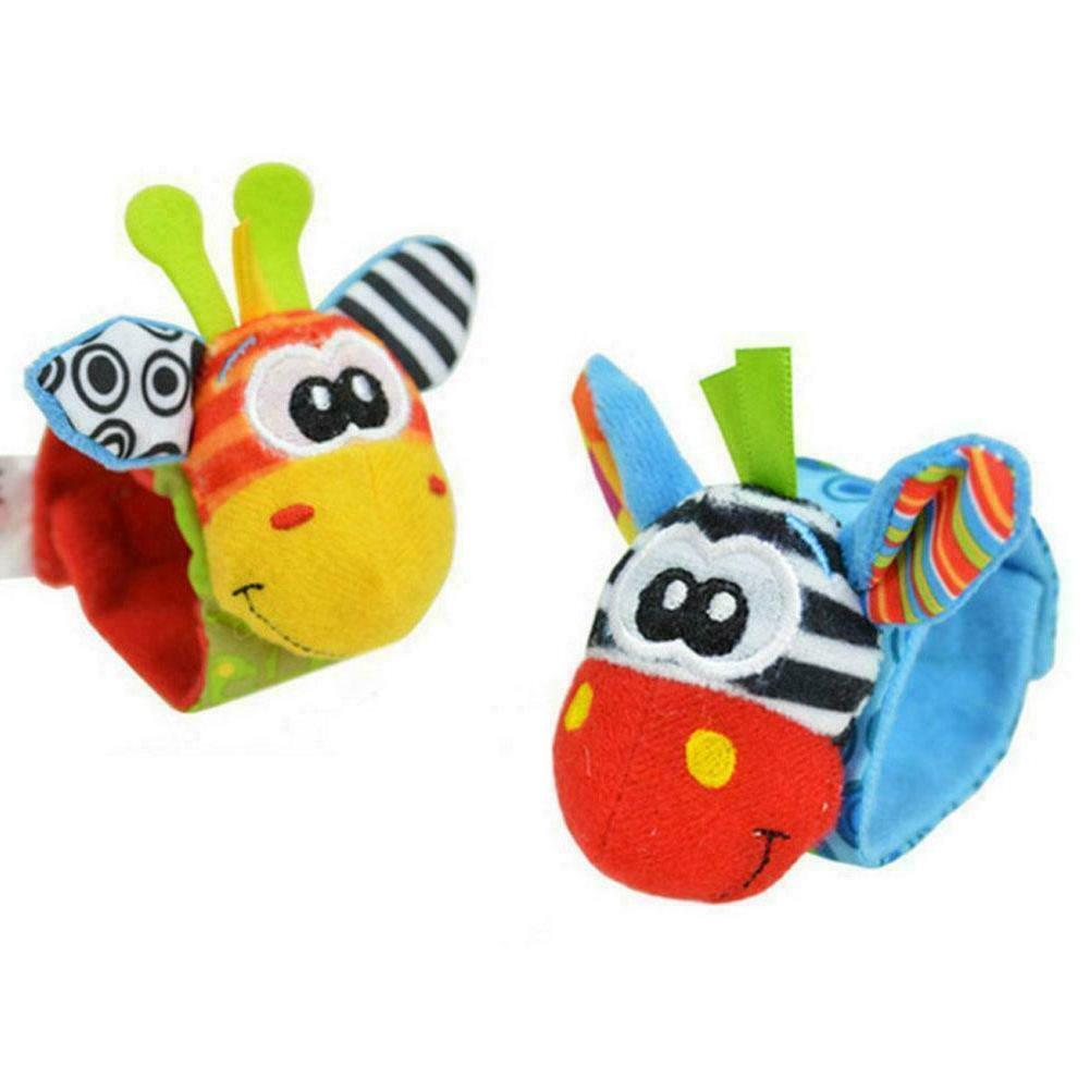 Cartoon Toys Months Sock Soft Rattles Infant Children W9Y5