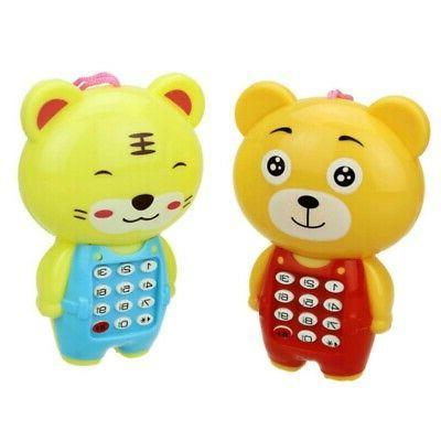 Baby Kids Cartoon Cellphone Toys Toddlers Boys Girls Portabl