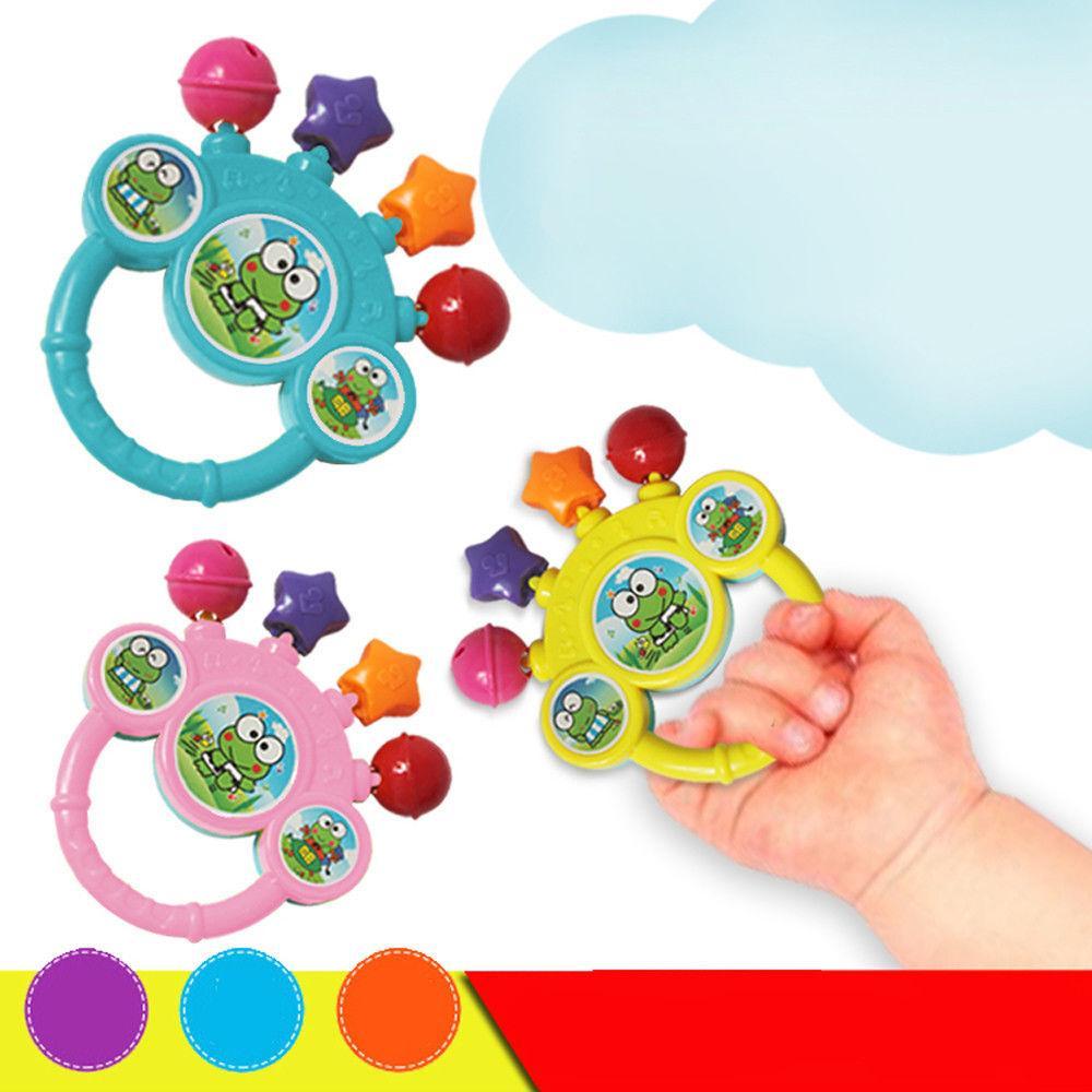 cartoon infant baby bell rattles newborns toys