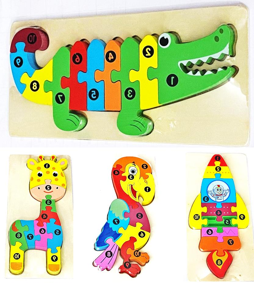 Children Kids Numbers jigsaw learning