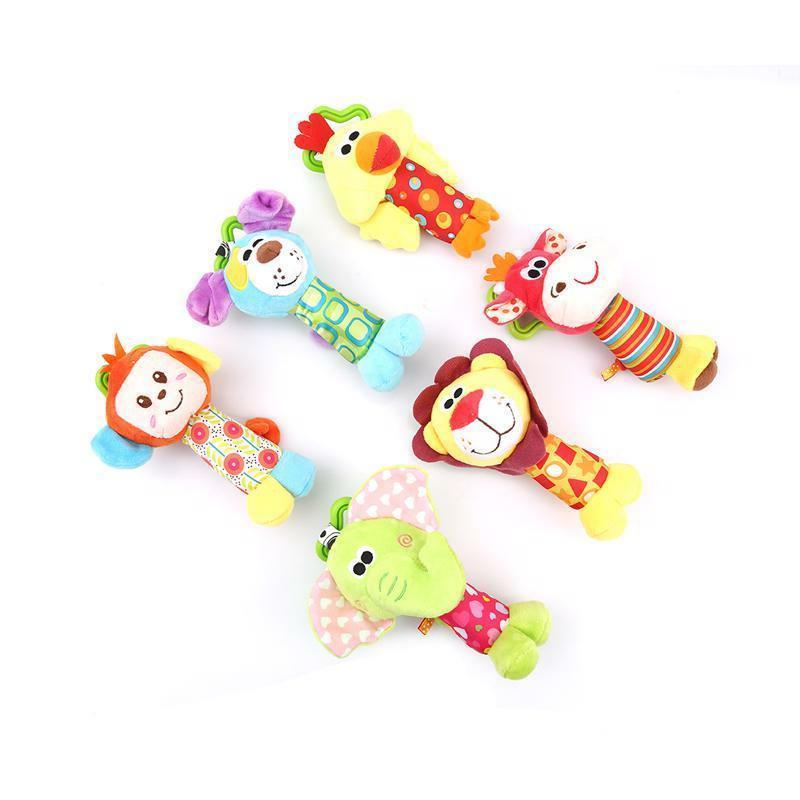 colorful cartoon plush animal hanging toys