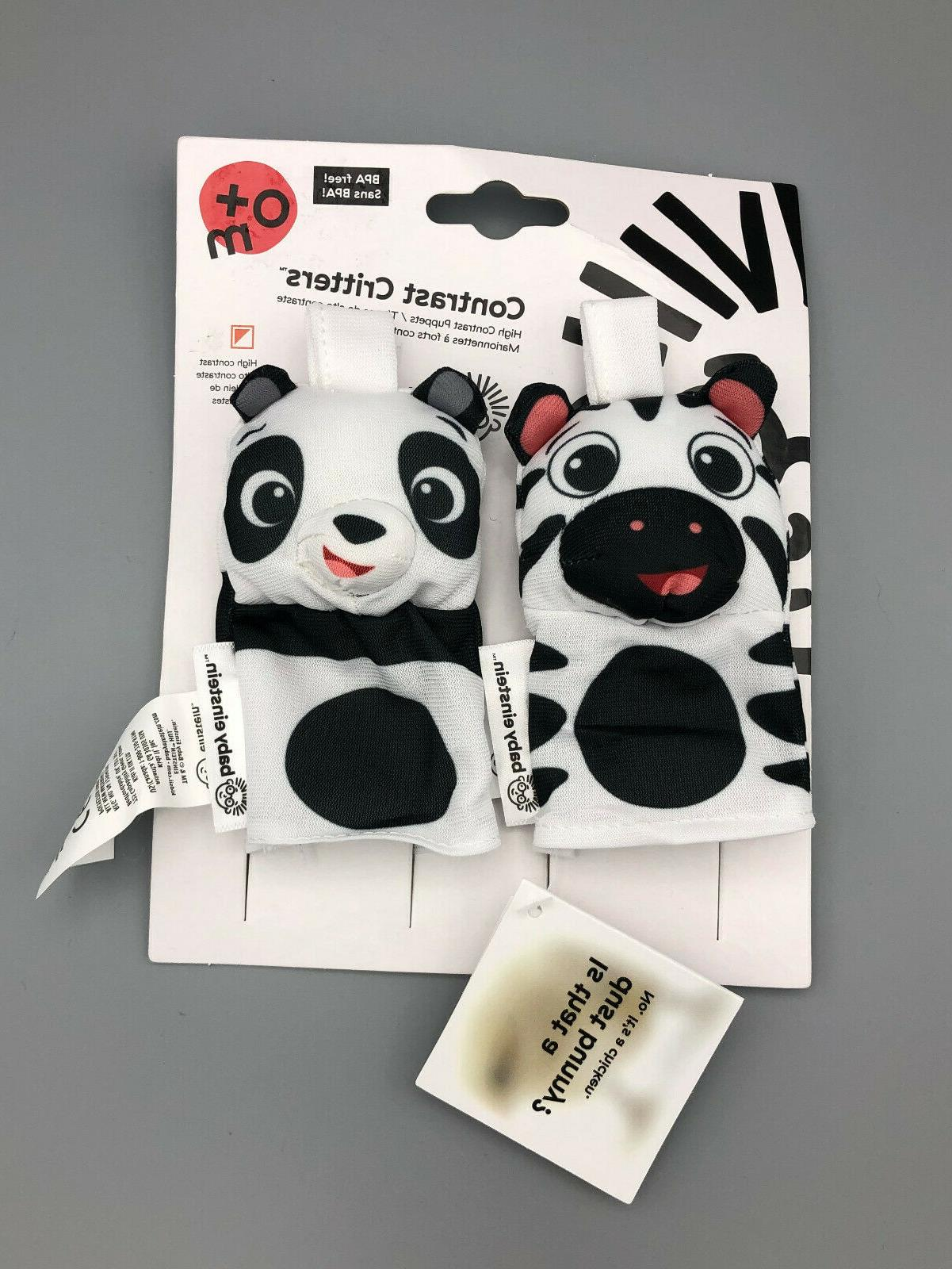 contrast critters finger puppets
