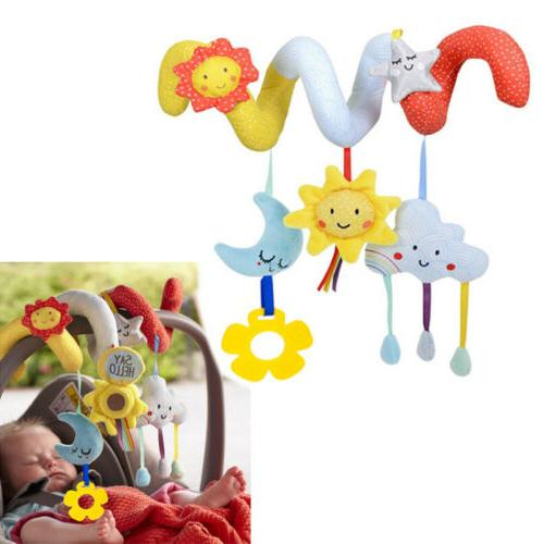 Infant Crib Cot Pram Hanging Rattles Spiral Stroller Car Sea