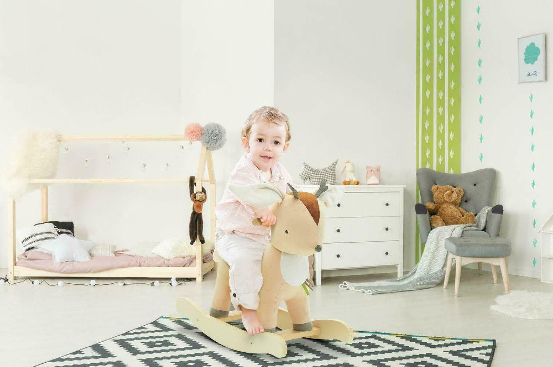 cute deer rocking horse baby toys kids