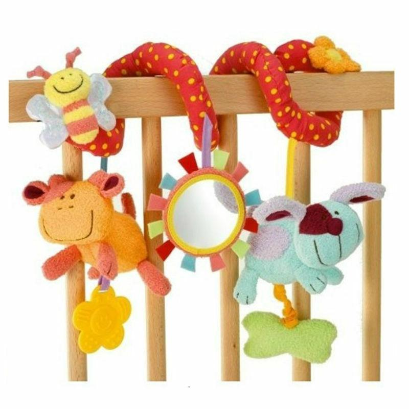 cute plush toys kid activity spiral wrap