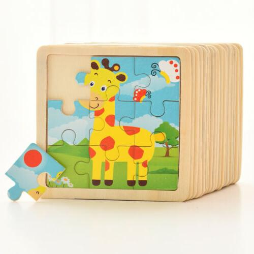 Development Baby Wooden Puzzle Learning Educational