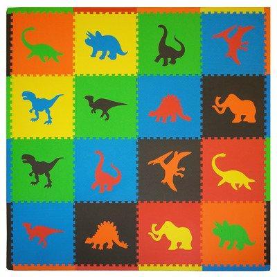 16 Piece Dino Playmat Set