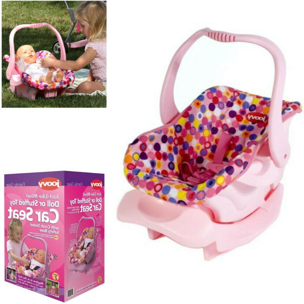 Doll Or Stuffed Toy Car Seat Pink Dot